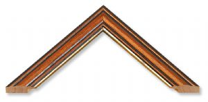 Traditional Yew with Gilt Inlay Picture Frame
